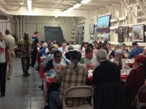 A full house aboard the SS Red Oak Victory for the first ever crab feed!