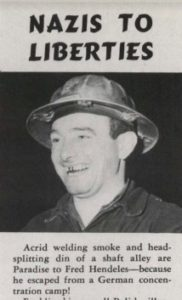 Fred Hendeles, holocaust survivor who worked in the shipyards